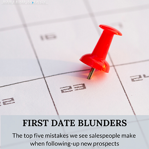 First Date Blunders